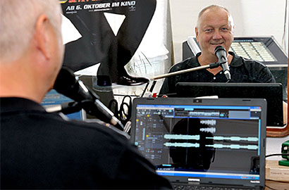 radiosendung wird produziert